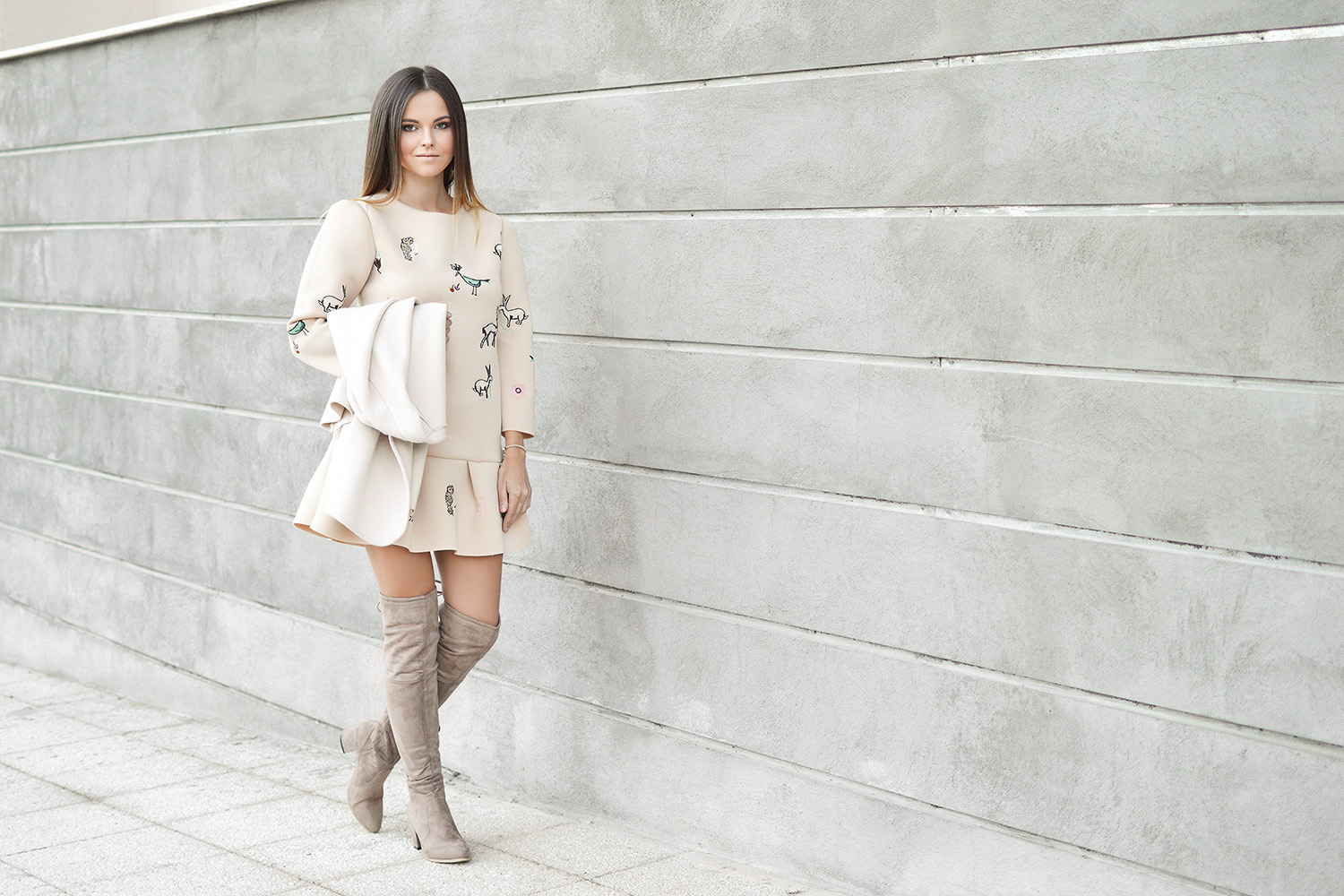 Beige Over The Knees by Tamara Bellis