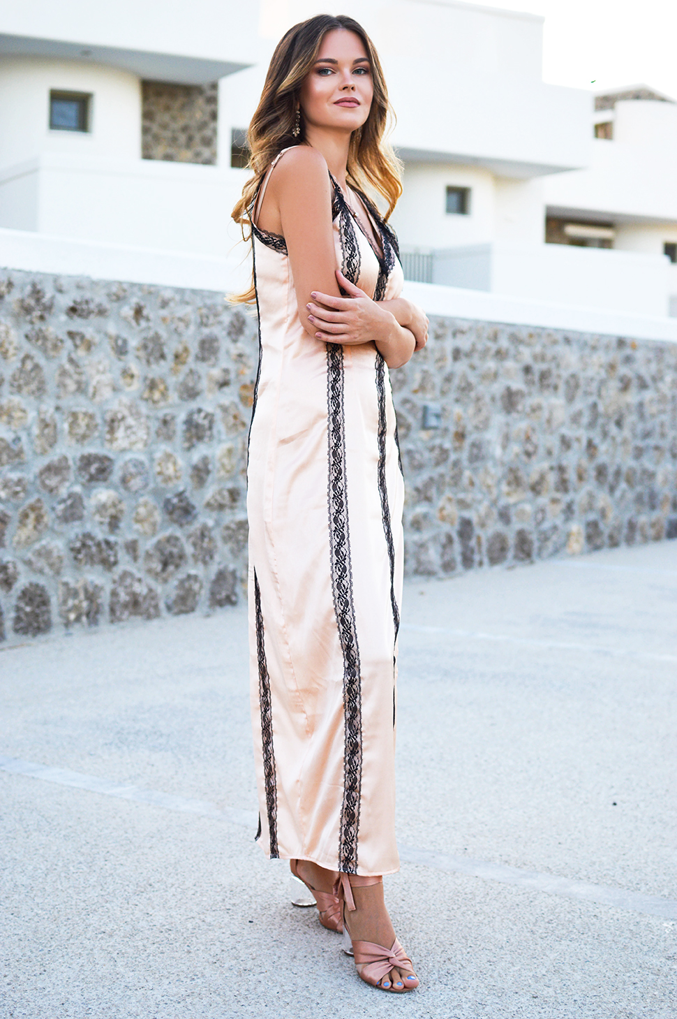 Satin Midi Dress by Tamara Bellis